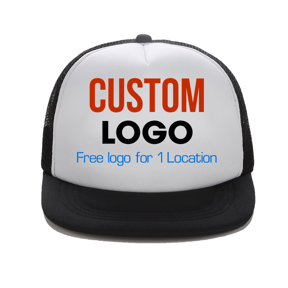 Custom Trucker Hat Flat Bill Visor Free Logo Men Women Summer Snapback Caps Sports Team Group Name Picture Print Free Shipping кепка badboy logo team hat