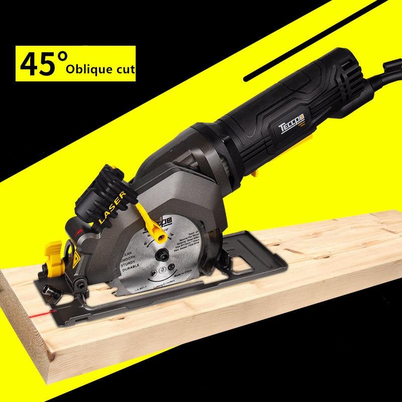 Mini máquina de fresado para trabajo en madera sierra circular eléctrica multifunción de mano motosierra eléctrica portátil con chip circular