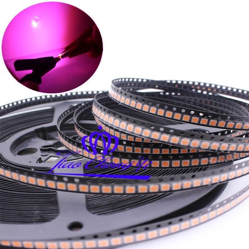 100PCS 2835 380NM-840NM Full Spectrum LED Smd Led Diode 3.0-3.2v 150mA
