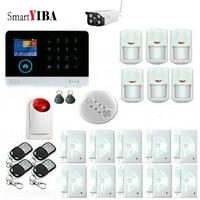Smartyiba wifi gsm 2g gprs 경보 시스템 무선 스마트 하우스 보안 app 원격 제어 diy 키트 다국어 전환 가능