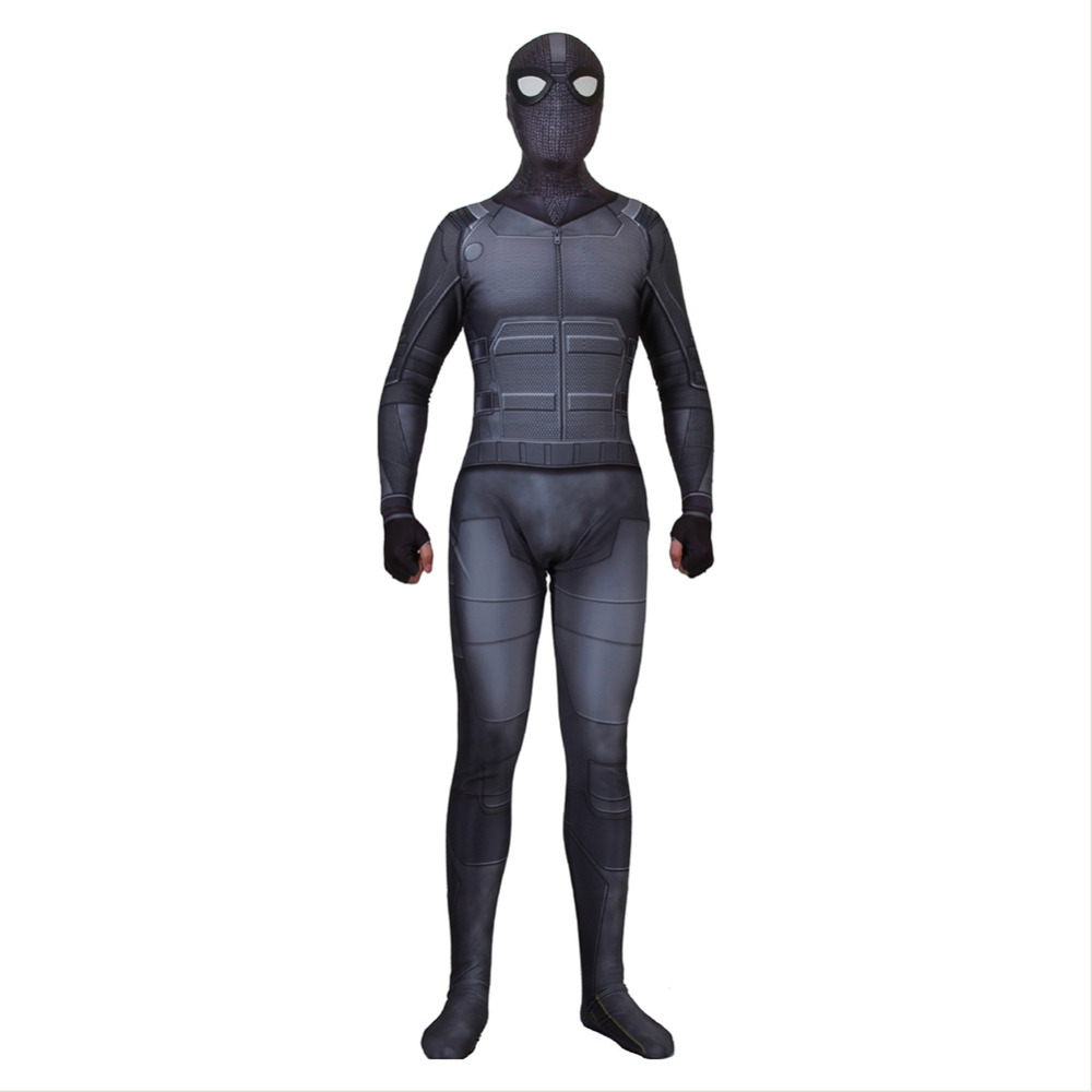 Spider-Man: Far From Home Costume Jumpsuit Spider Man Cosplay Adult Men Black Outfit Suit Halloween Carnival Costumes