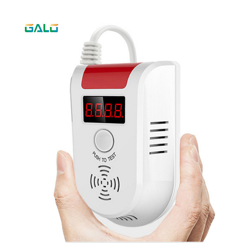 Combustible Gas Detector Wireless Digital LED Display Combustible LPG Gas Detector For Home Alarm System Function can choose wireless digital led display combustible gas detector for home alarm system personal safe flash gas sensor for personal security