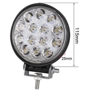 Image 2 - OKEEN 4 дюймосветильник 42 Вт квадратный светодиодный рабочий фсветильник 48 Вт светодиодный фонарь для 4x4 внедорожника ATV UTV грузовика трактора мотоцикла Противотуманные фары s