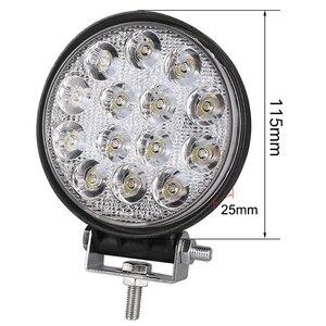 Image 2 - Okeen holofote luz de led quadrado, 4 polegadas, 42w, 48w, barra de luz led para 4x4 offroad atv utv trator para caminhão de motocicleta, luzes para neblina