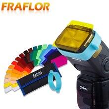 12/20 шт цветной фотографический фильтр цветных гелей карта Рассеиватель Вспышки Speedlite для Canon Nikon Olympus Pentax DSLR