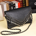 New Fashion Satchel skull rivet punk bags women handbag tassel bag women messenger clutch bag bolsas femininas
