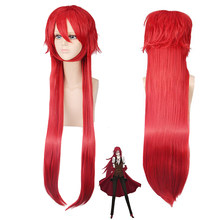 2019 Anime noir majordome Grell Sutcliff cosplay perruque rouge longue droite cheveux synthétiques Halloween fête kuroshisuji Cosplay perruques(China)