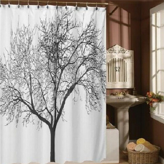 2017 New Chic Shower Curtain Polyester Sliding Folding Screen For ...