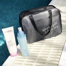 Прозрачная Водонепроницаемая моющаяся сумка-Органайзер для путешествий фитнес-купальная сумочка косметичка большой вместительности сумка