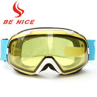 Benice Men Multicolor Anti Fog UV Protection Professional Outdoor Sports Snowboard Skate Goggles Snow Goggle Double Lens Glasses