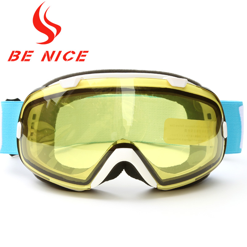 Benice Men Multicolor Anti Fog UV Protection Professional Outdoor font b Sports b font Snowboard Skate