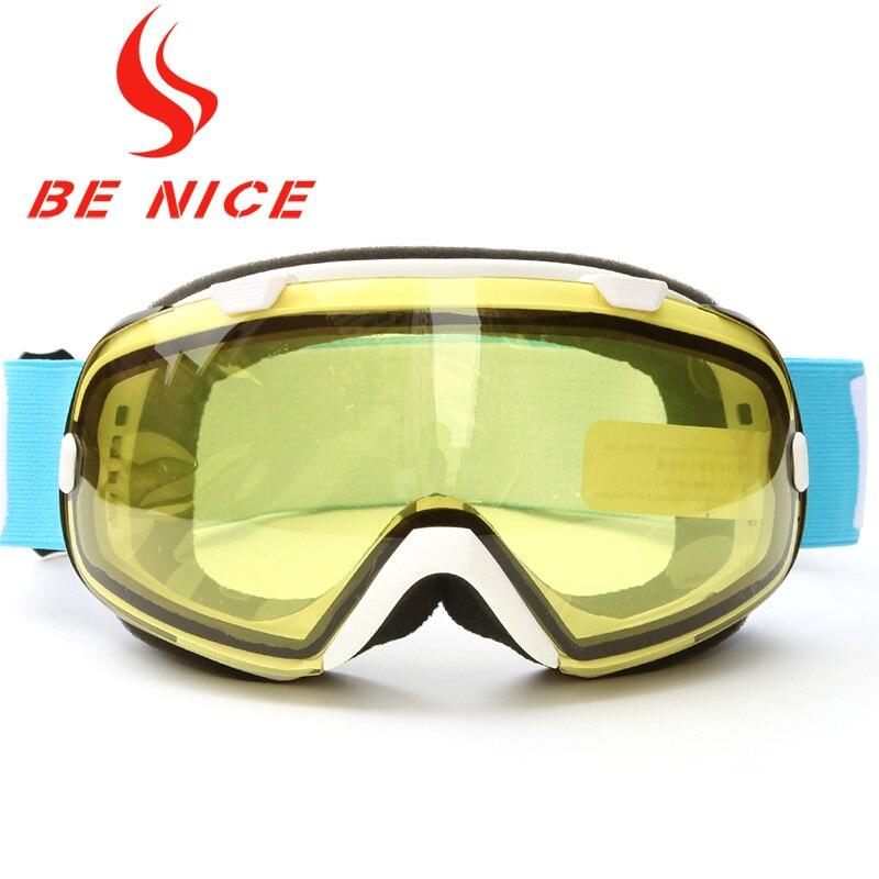 Benice Men Multicolor Anti Fog UV Protection Professional Outdoor font b Sports b font Snowboard Skate
