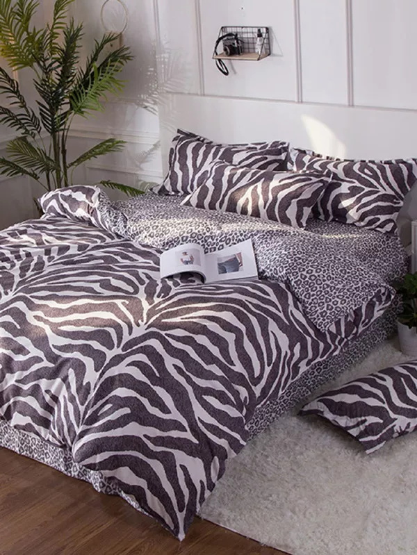 Bedding Sets Leopard Queen twin Size Duvet Cover Sets Pillowcases Bed Linen Black&White Bed Clothes Bedding Sets Leopard Queen twin Size Duvet Cover Sets Pillowcases Bed Linen Black&White Bed Clothes