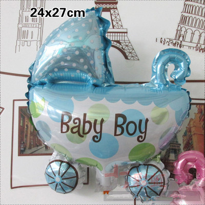 Hot Sale Blue Angel Baby Shower Foil Balloons Boy 1st Birthday Party Decorations Mini Cars