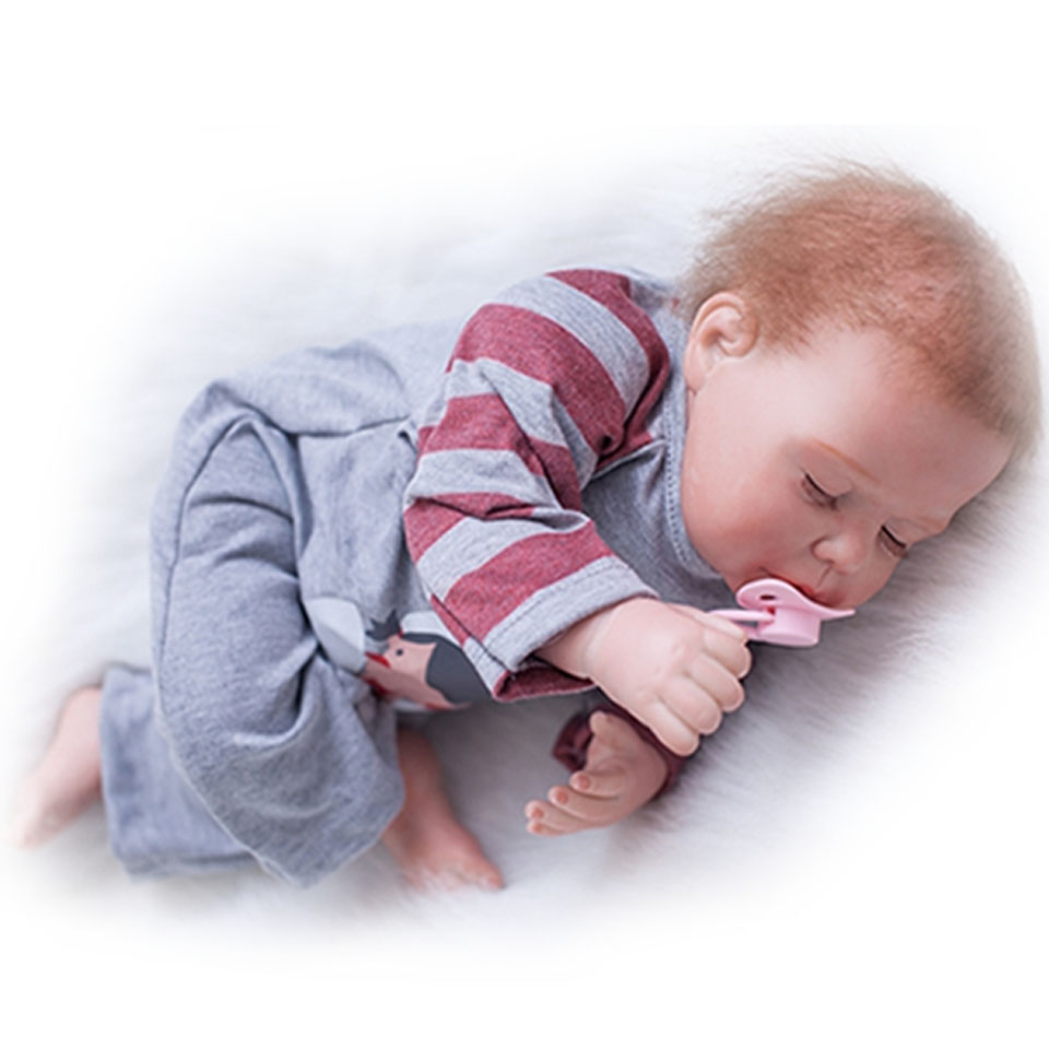 Clever Reborn Silicone 22'' Model Dolls Touch Soft Realistic Baby Alive Dolls Suck Magnetic Pacifier Sleeping Reborn bebe Toys suck uk
