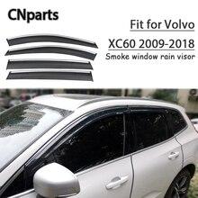 Cnparts 4 шт. ABS для Volvo XC60 2009- стайлинга автомобилей Дым окна солнцезащитный козырек сохраняет свежесть конвекции воздуха аксессуары
