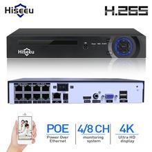 Hiseeu H.265 H.264 4/8CH POE NVR безопасности IP Камера видео система наблюдения CCTV P2P ONVIF 2MP/5MP/4 K сети видео Регистраторы
