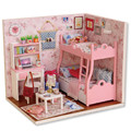 Mini DIY Led Light Doll House 3D Puzzle Wooden Miniature Doll House Kids Toys Assembling Handmade Room For Christmas Gift S20