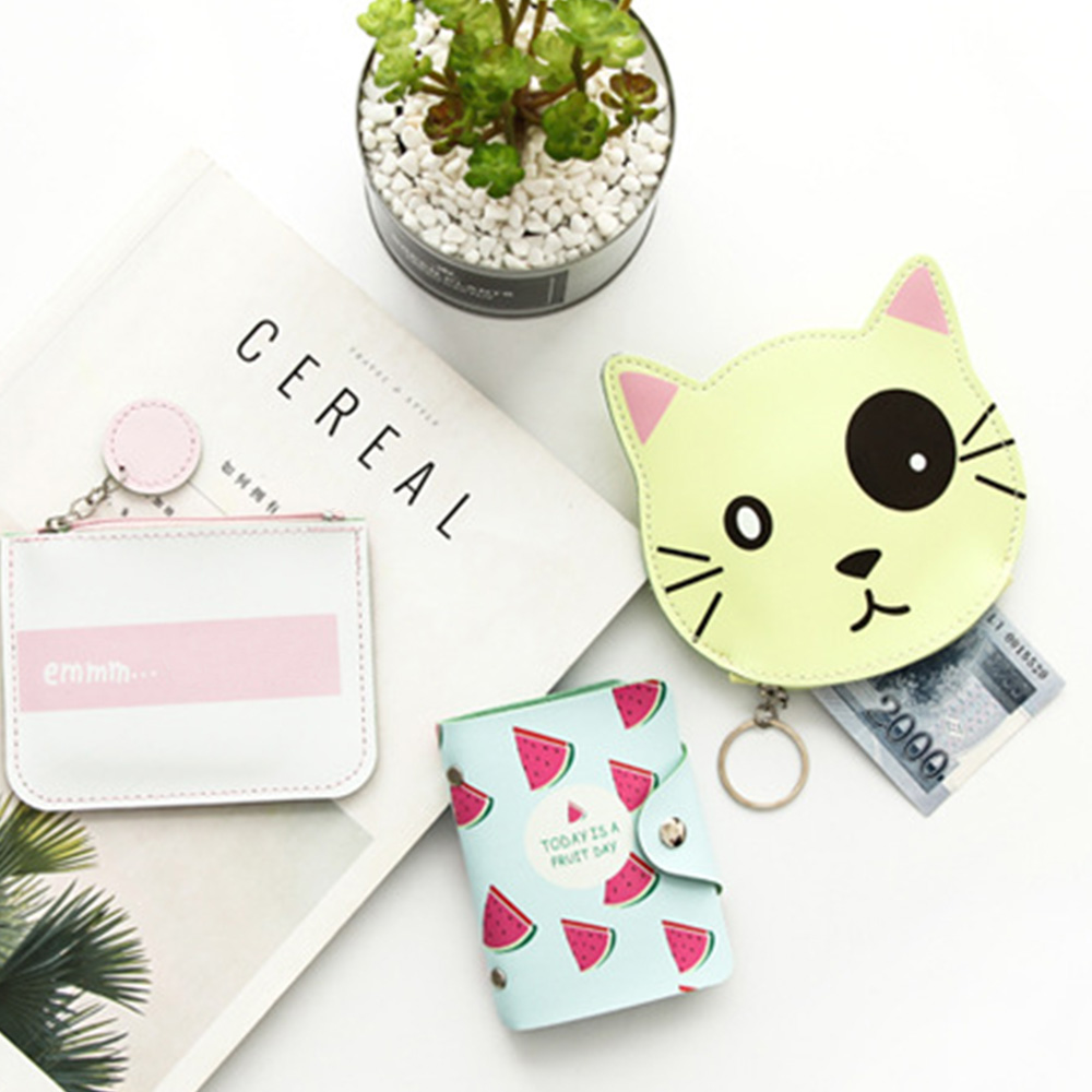 Fashion PU Leather 20 Bits Card Case ID Card Holder Credit Passport Bag Wallet