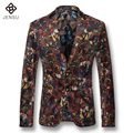 2016 New Men Blazers Jackets Coats Dress Suits Men's Casual Fashion Slim Fit Notched Lapel Blazers Veste De Loisir Herren Anzug