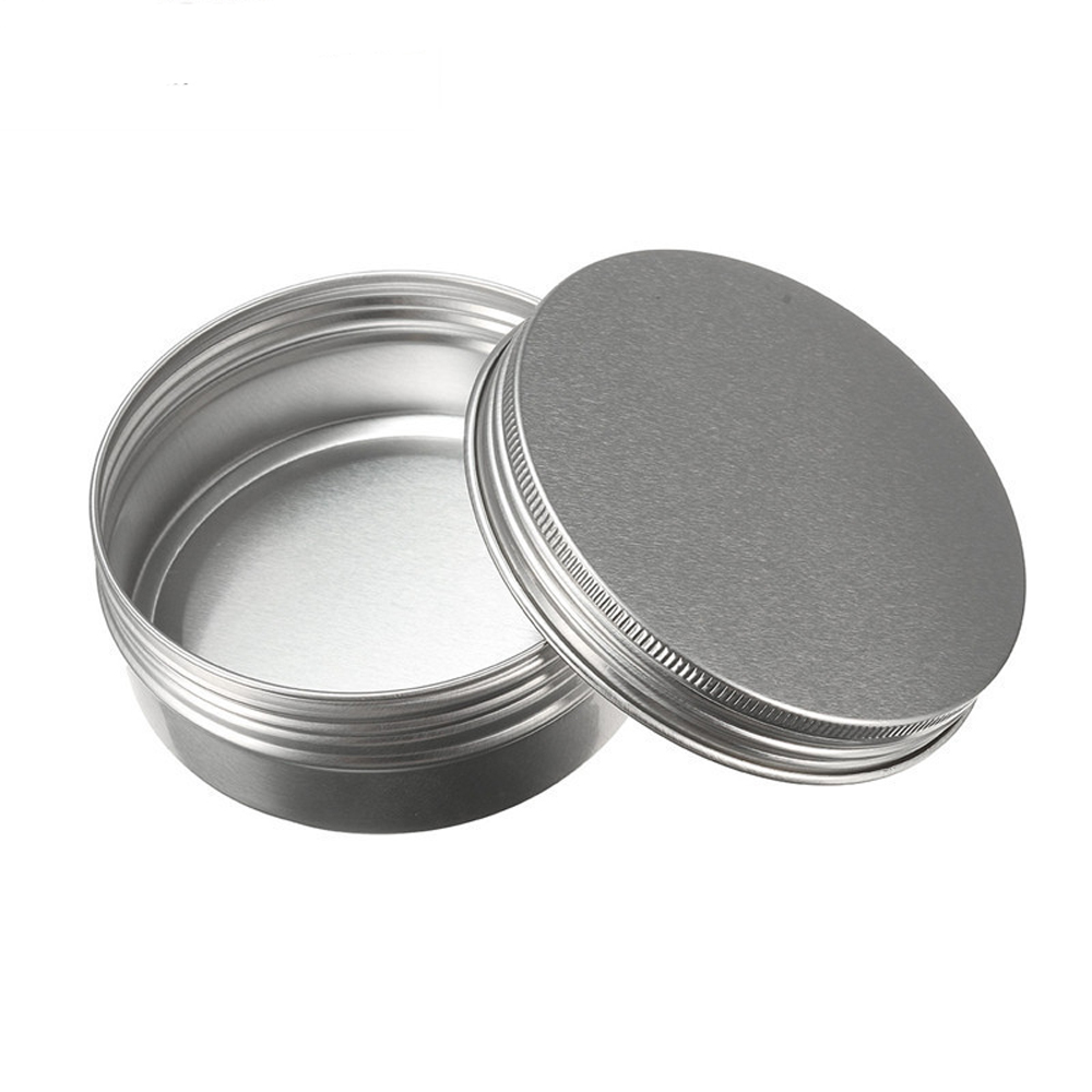 Empty Aluminum Cream Jar Tin Cosmetic Lip Balm Containers Nail Derocation Crafts Pot Bottle Screw Thread 15ml/50ml/100ml/150ml 150g aluminum jar refillable cosmetic cream bottle empty screw cap containers black pink gold white silver lotion tins