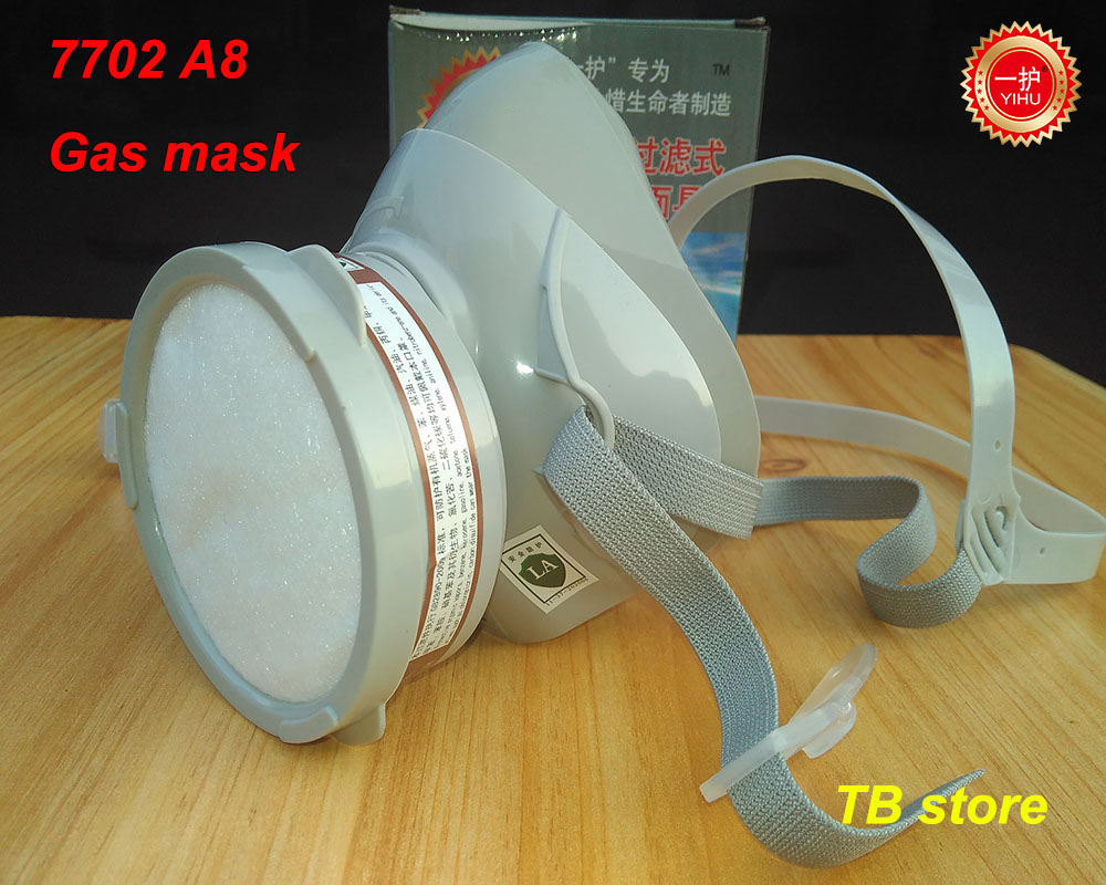 7702 A8 respirator gas mask high quality Silica gel protective mask formula Activated carbon Spray paint Toxic gas filter mask high quality respirator gas mask provide silica gel gray protective mask paint pesticides industrial safety mask