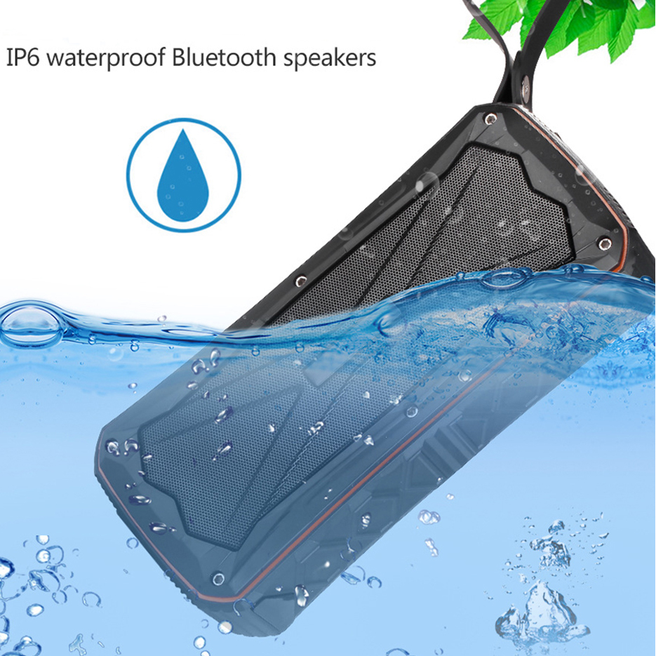 Evewher New 20W Bluetooth Speaker Subwoofer Speaker Built-in 4500mA Stereo Speaker Waterproof / Shockproof / Card Handsfree