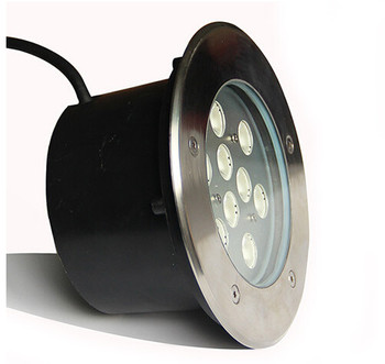 משלוח חינם 10 יחידות 9*1 W LED מחתרת אורות 9 W LED קבור מנורת AC85-265V LED גן תאורה IP68 שקוע LED רצפת אור