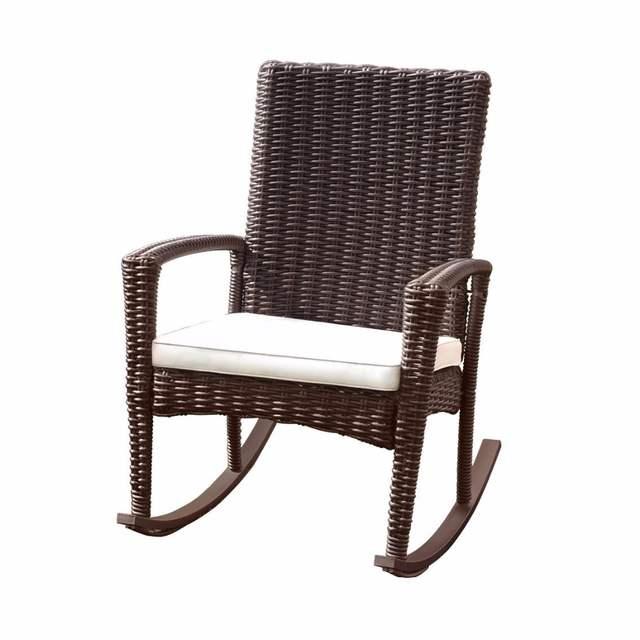 Online Shop Giantex 3 Pcs Rattan Wicker Patio Furniture Set Coffee