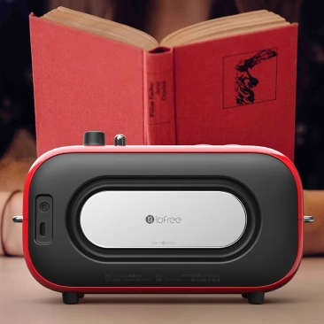 Image 5 - The latest xiaomi mijia LOFREE Bluetooth speaker fashion retro lightweight portable FM radio Bluetooth cable dual mode Smart 36-in Smart Remote Control from Consumer Electronics