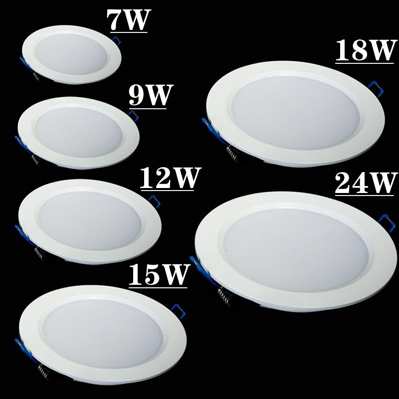 Ultra-Thin-7W-9W-12W-15W-18W-25W-Led-Down-Light-cool-white-warm-white-AC85