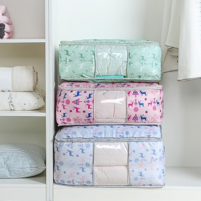 1pcs Multifunctional Thickening cloth quilt storage bag with window Free shipping