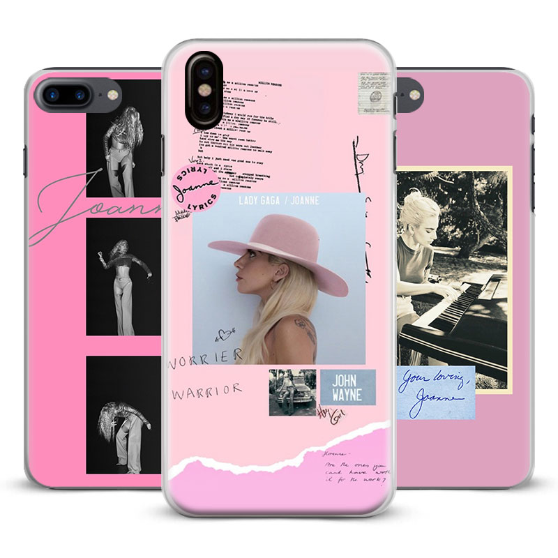 Lady JOANNE GAGA Coque Fashion Cool Phone Case Cover Shell For Apple iPhone 4 4s 5 5s Se 6 6Plus 6s 6sPlus 7 Plus 8 8Plus X
