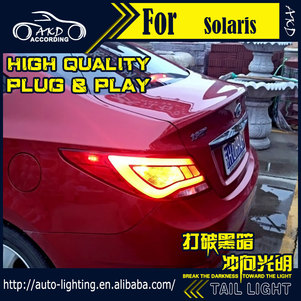Akd Car Styling Tail Lamp For Hyundai Accent Lights Solaris Led Light Signal Drl Stop Rear Accessories In Embly From
