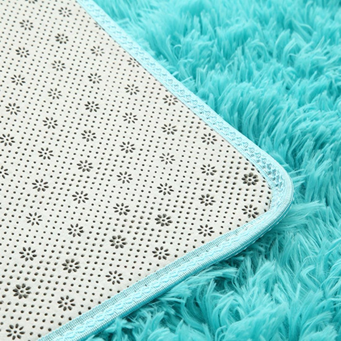 Tapis en peluche doux Shaggy Alfombras tapis en fausse fourrure tapis de sol antidérapant pour salon chambre décoration de la maison fournitures - 6