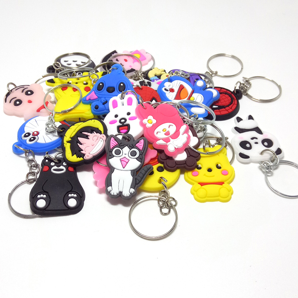 HOT!!new coming Silicone key ring Spider Man Key chain Cartoon cute KeyRing Japan Anime role Keychain for party gift---Mini Size mini motorcycle helmet keychain cute keyring