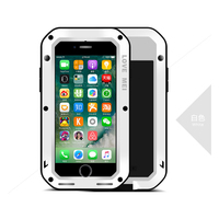 Case For Iphone 7 7 Plus LOVE MEI Life Waterproof Shockproof Dirtproof Aluminum Cases Metal Cover