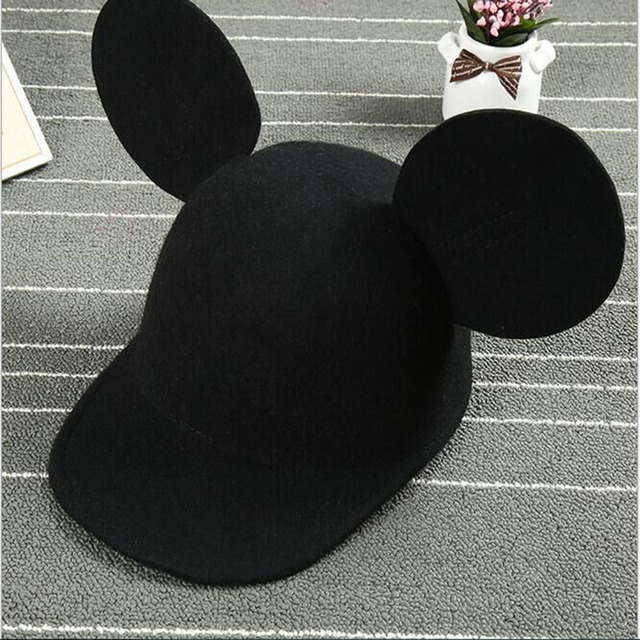 6c966af838a Summer 2016 Fashion Ear Cap Big Ears Cap Cute cartoon Pure Wool Snapback Caps  Hip Hop