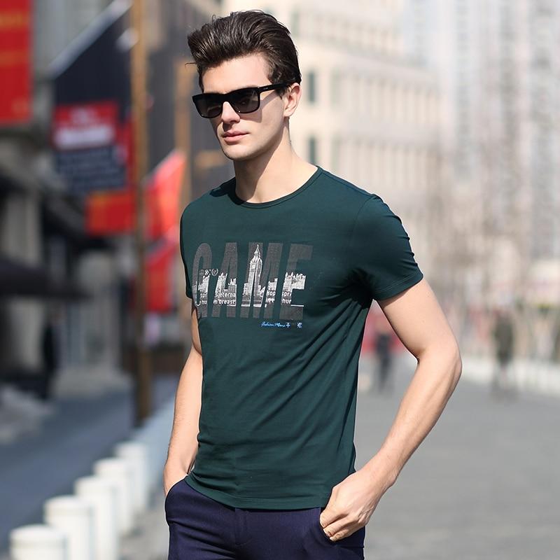 2016 nouveau style jeunes hommes s o , cou mode impression coton à manches courtes t