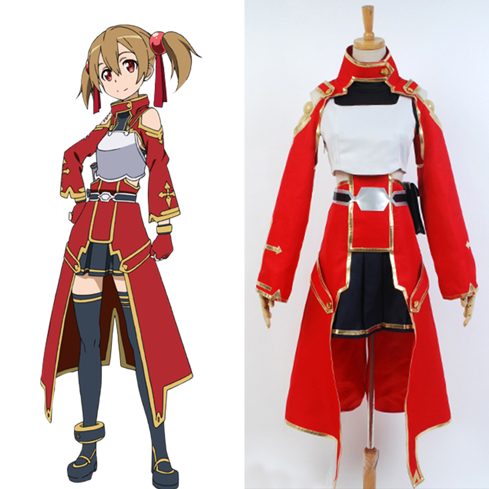 Sword Art Online Cosplay Silica Keiko Ayano Battle Suit Uniform Costume Cosplay Full Sets Halloween Carnival Costume Women