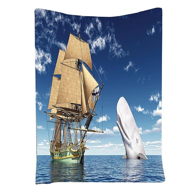 Lustige Tapisserie Whale Decor Ozean Liebhaber Piratenflagge ...