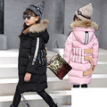 fur hooded kids jackets for girls winter long thick girls jackets and coats new 2016 arrivals fashion pink gray black clothes