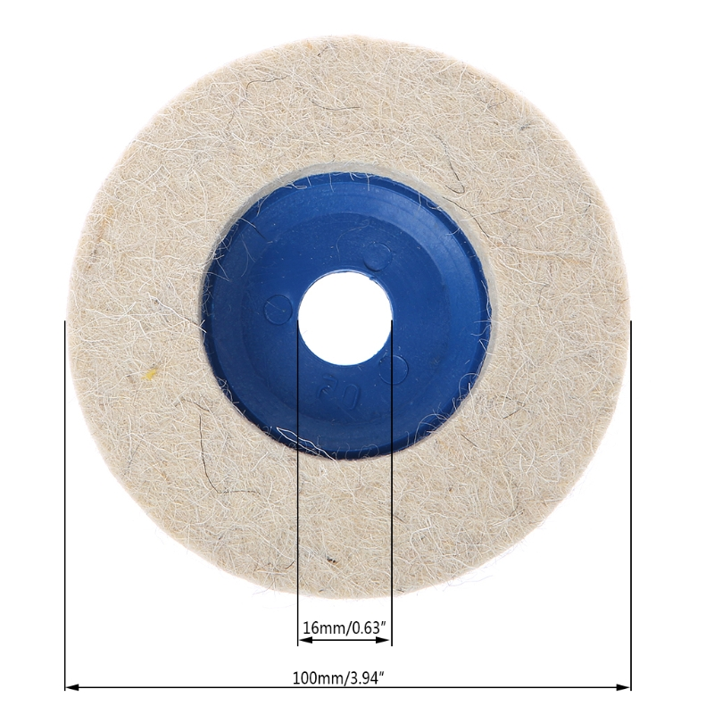 Tools 1pc 4inch Polishing Buffing Grinding Wheel Wool Felt Polisher Disc Pad 100mmx20mm Polisher Pads 4 Inch Various Styles