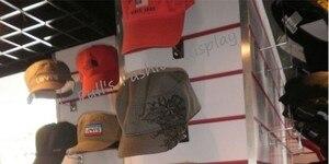 Image 5 - 무료 배송 뜨거운 판매 금속 교수형 모자 랙 그루브 보드 모자 브래킷 가발/공/모자 디스플레이 스탠드 랙 20 pcs