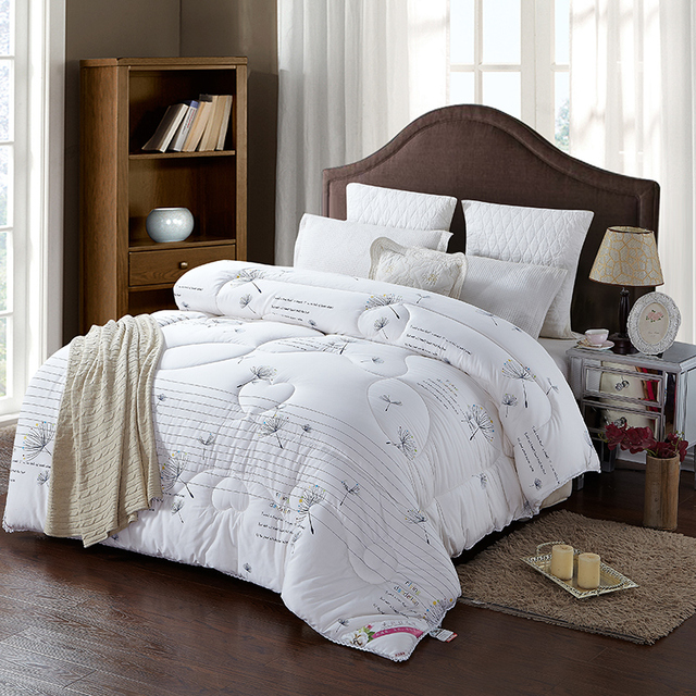 High Quality 100 Cotton Filling White Color Comforter Bedding Set Thick Winter Quilt Throw Blanket