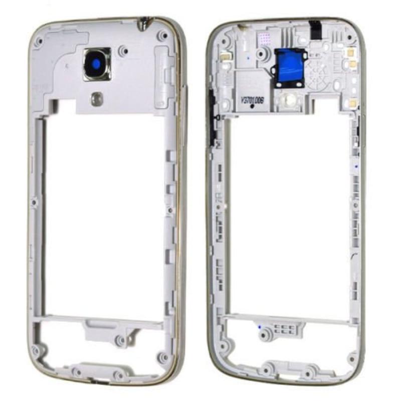 Original New White Middle Plate Frame Housing For Samsung Galaxy S4 Mini I9190 I9195 Frame Housing