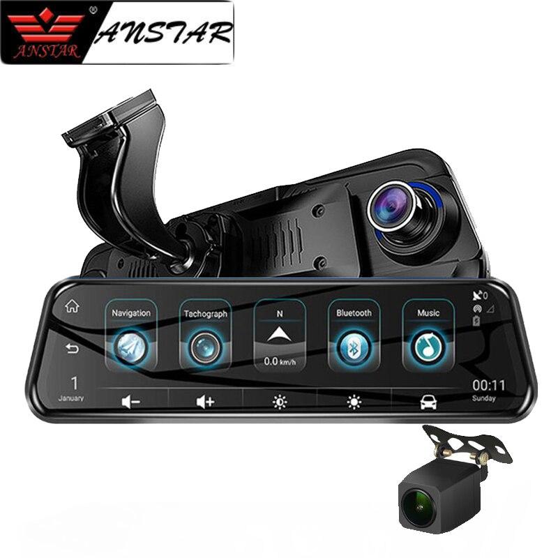 Anstar f8004G ADAS Car DVR Camera Android 10 Stream Media Rear View Mirror FHD 1080P WiFi
