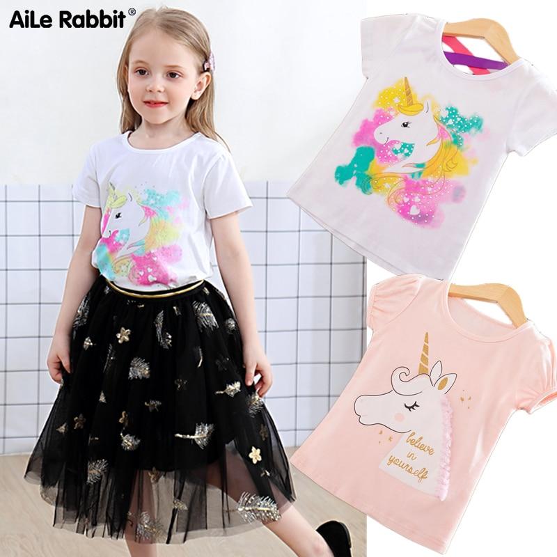 Toddler Tees T-Shirts Unicorn Summer Tops Short-Sleeve Baby-Boy Kids Cotton Children