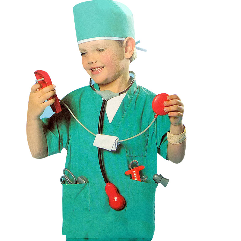 Girls Boys Halloween Costumes Surgeon Sets Doctor Cosplay Stage Wear Clothing Children Kids Party Clothes Carnival Costumes