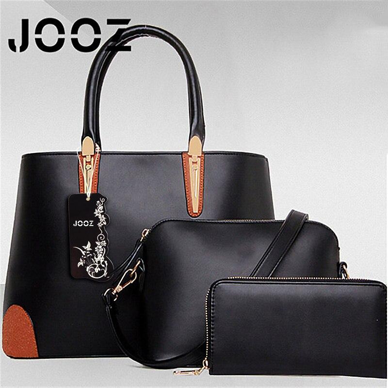ФОТО Jooz Brand Luxury Female vintage bag Lady Handbag 3 Pcs Composite bags Set Women Shoulder Crossbody Bags Purse Clutch